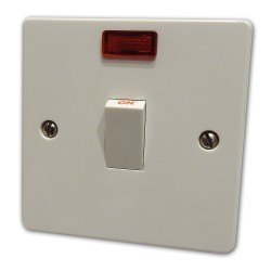 20A DP Switch White Plastic...