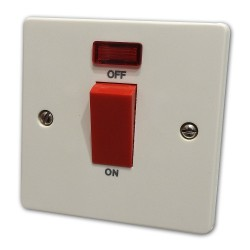 45A Cooker Switch White...